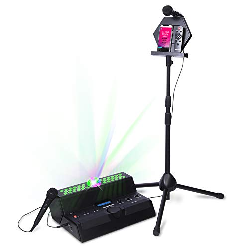 Singsation Karaoke Machine - Mainstage All-In-One Premium Karaoke Party System w/Vocal, Sound and Light Effects, Two Microphones and Sound System (Best Karaoke System Setup)