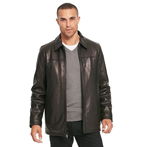 Wilsons Leather Mens Front Zip Lamb Hipster W/ Thinsulate Lining XL Black (Wilsons Leather Jacket Men)