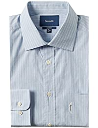 Faconnable Mens Classic Fit Dress Shirt, 16.5, Blue