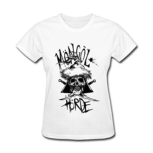 VEBLEN Women's Circa Survive Juturna Design Cotton T Shirt (White Felt Beard)