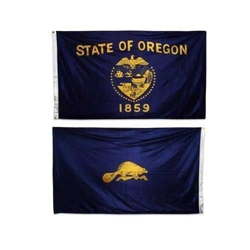 (3x5 State of Oregon Double Sided Nylon Flag 3ft x 5ft House Banner PREMIUM Vivid Color and UV Fade BEST Garden Outdor Decor Resistant Canvas Header and polyester material FLAG)