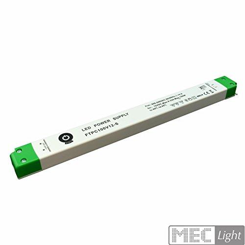 POS professionnel Transformateur LED Slim 12V DC 8,33A 100W, variateur antspannung, certifié TÜV, SELV, mm, ce,... types de protection: Protection contre les courts-circuits, parasurtenseur, übertemperaturschutz, seuleme