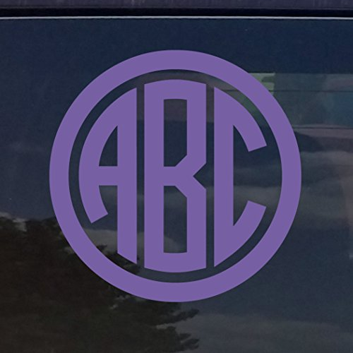 CUSTOM CIRCLE MONOGRAM INITIALS VINYL DECAL / STICKER CARS YETI CUP LAPTOP PHONE (3