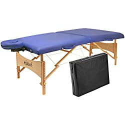 Master Massage Brady Lightweight Portable Massage Table, Sky Blue, 27''
