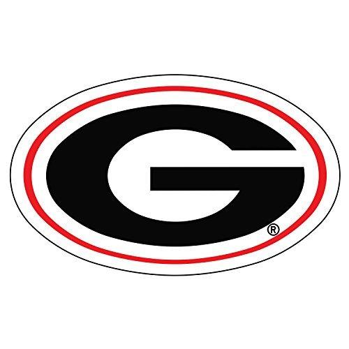 Georgia 12' Car Bulldogs Bulldog (Georgia Bulldogs Decal OVAL G DECAL 4