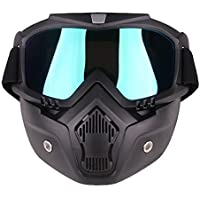 PiscatorZone anteojos máscara tácticas con máscara Desmontable para Ciclismo esquí al Aire última intervensión CS Paintball