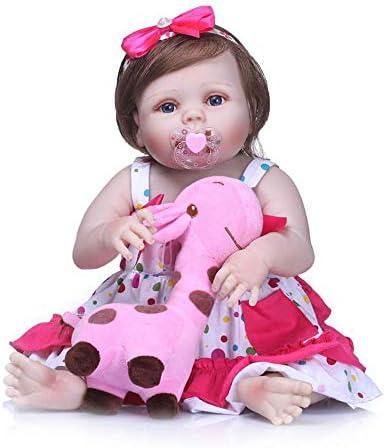 """22/"""" BIG BABY DOLL BAMBOLA REBORN in VINILE difficili Abbigliamento e Accessori-Vestito Rosa"""