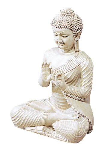 "Deco 79 75317 Polystone Buddha Home Decor Product, 18""H"