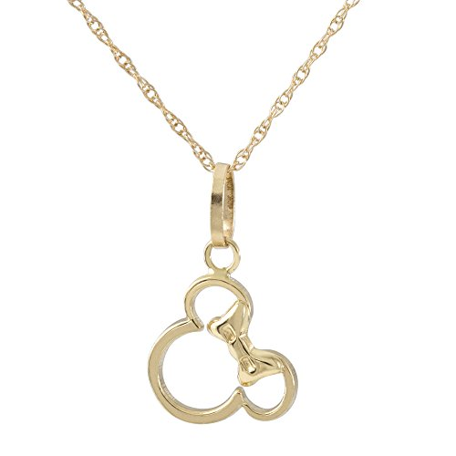 108d4282aa5 ... 18 · Disney Women's Girls Jewelry Minnie Mouse 14k Yellow Gold Pendant  Necklace,18