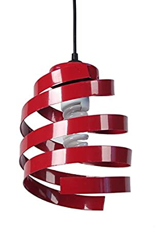 Tosel Barber Pole 2 11005 Lámpara de techo, acero, rojo, E27 ...
