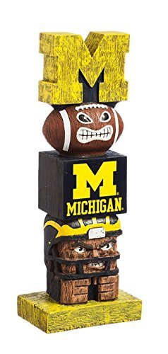 - Evergreen NCAA Michigan Wolverines Tiki Totem