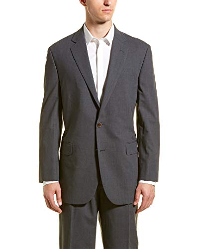 Brooks Brothers Mens Wool-Blend Suit with Pleated Pant, 42R, - Wool Brothers Brooks Suit
