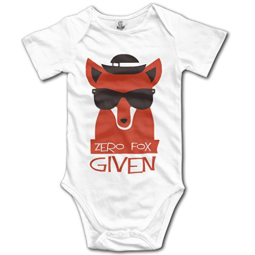 Unisex Baby Clothes Funny Zero Fox Given With Sunglass Cool Onesie ()