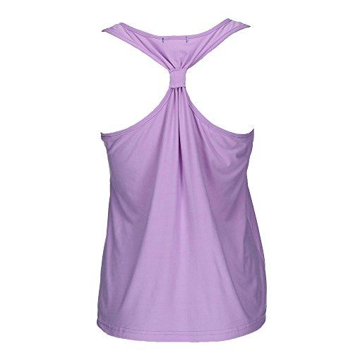 em & alfie Women's Plus Size Tank and Short Pajama Set, 2X, Purple by em & alfie (Image #3)