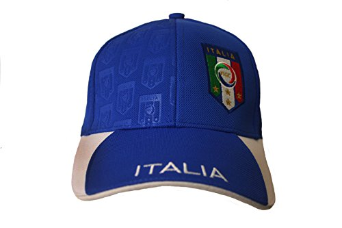Italia Italy Blue White FIGC Logo FIFA Soccer World Cup Embossed Hat Cap .. New - WC .. .. New