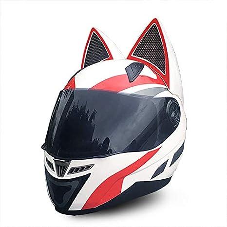 Amazon.com: Nitrinos - Cascos de motocicleta con orejas de ...