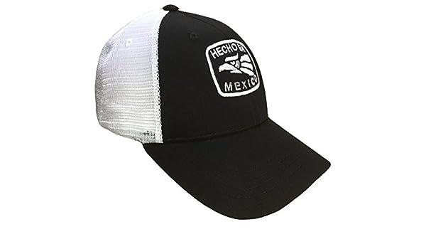 8d1c6110cae Hecho En Mexico Mid Profile Mesh Golf Trucker Cap(Black White