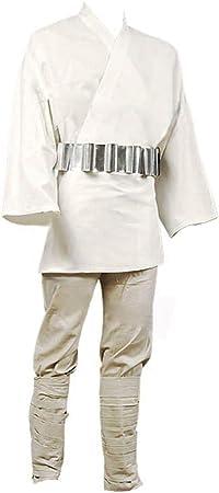 RedJade Luke Skywalker Tunic Traje de Cosplay Disfraz Blanco ...