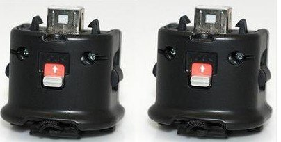 Wii Motion Plus Adapter for Original Nintendo Wii Remote Controller(black,set of 2)
