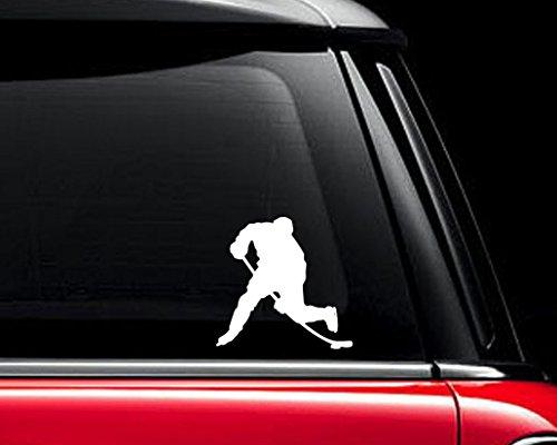 Hockey Player Decal - Hockey Player Shape - Vinyl Decal - Car Truck Laptop - SELECT SIZE