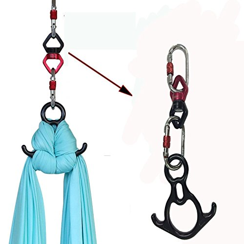 F.Life Aerial Silk Dance Rigging Hardware Kit Rescue Figure 8 & Rope Swivel & Steel Carabiners