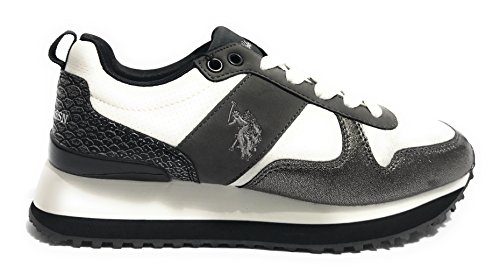 Polo U s Women Bianco Frida4042s8 Assn Peltro Sneakers y1 BS4wSq5
