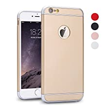 iPhone 5S Case, iPhone SE Case, iPhone 5 Case, SAUS 3 in 1 Ultra Thin and Slim Design Coated Premium Non Slip Surface with Excellent Grip Case Fit for Apple iPhone 5 / 5S / SE (Gold)