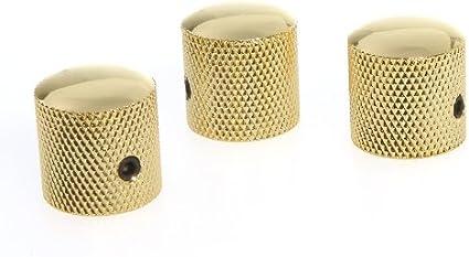 4 Piece DOME TOP Barrel Style GUITAR KNOB SET CHROME