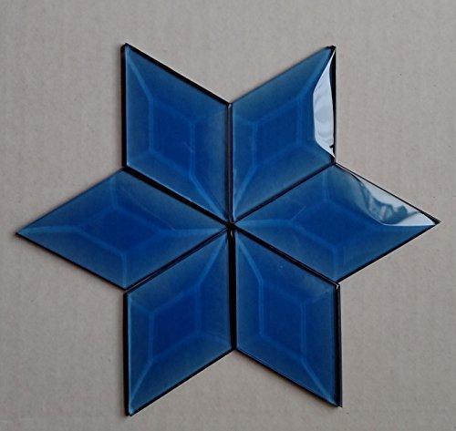 X 3 Light Blue Diamond Bevels Pack of 6 ()
