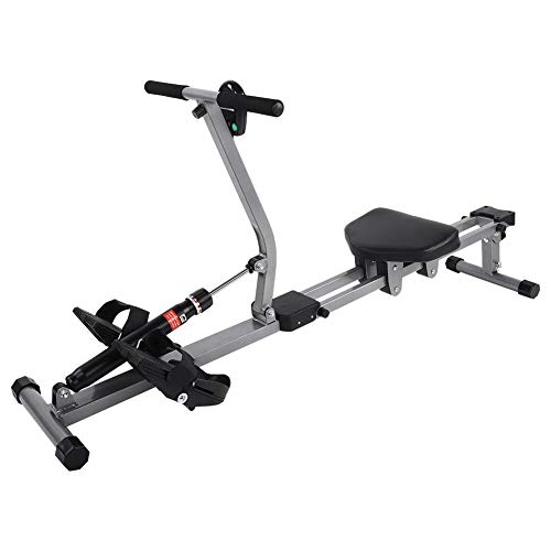 TOPINCN Rowing Machine, Steel Cardio Rower Workout Body Training Machine with Adjustable Resistance for Home Use