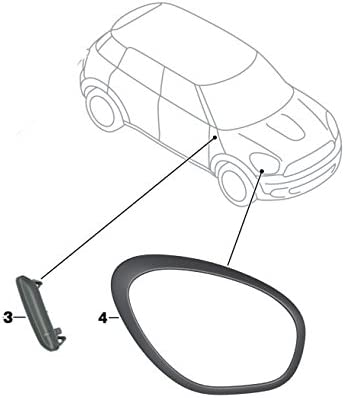 MINI Genuine Right O//S Headlight Trim Ring In Slate Grey For R60 R61 51132254028