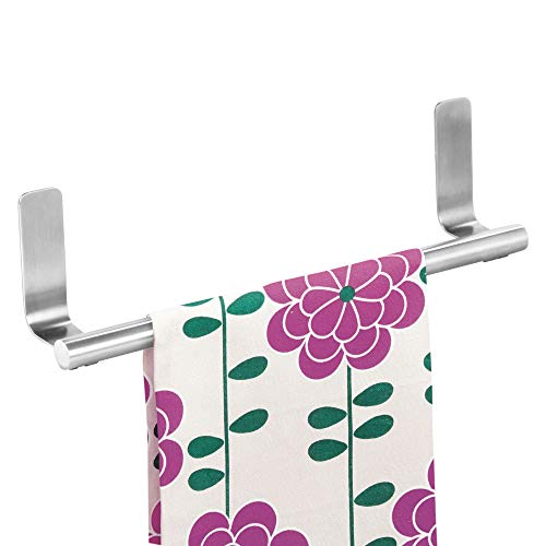 iDesign Forma Self-Adhesive Towel Bar Holder for Bathroom, Kitchen Walls, Cabinets, Above Counters, 9.25