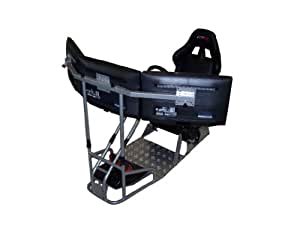 GTR Racing Simulator - GTSF Model with Real Racing Seat, Driving Simulator Cockpit with Gear Shifter Mount and Triple or Single Monitor Mount
