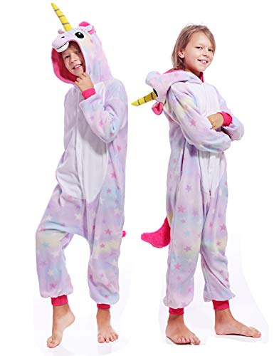 Kids Unisex Unicorn One Piece Sleepwear Cosplay Christmas Pajamas Costume Cute Homewear Xmas Sleepsuit for Boys Girls