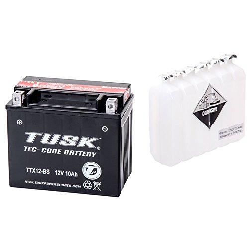 Tusk Tec-Core Battery with Acid TTX12BS Maintenance-Free -Fits: Honda ATC 250ES BIG RED 1985-1987