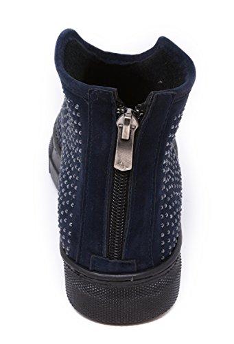 BOBERCK Zoe Collection Women's Rhinestone Ankle Bootie Navy FozryEAt