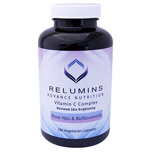 Relumins Advance Vitamin C - MAX Skin Whitening Complex With Rose Hips & Bioflavonoids - THREE MONTH SUPPLY! (Best Fruits And Vegetables For Skin Whitening)