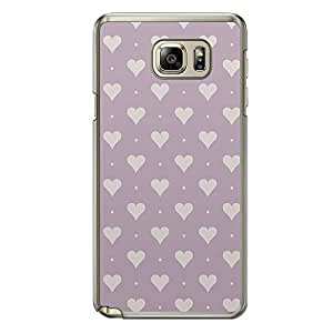 Loud Universe Samsung Galaxy Note 5 Love Valentine Printing Files A Valentine 111 Printed Transparent Edge Case - Purple