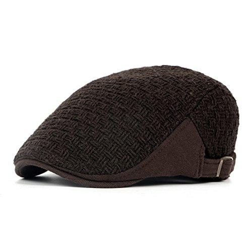 man edad gorro hat beanie Brown hat Otoño marrón lengua media sombreros Invierno pato algodón Halloween de Navidad MASTER Fw8qOHH