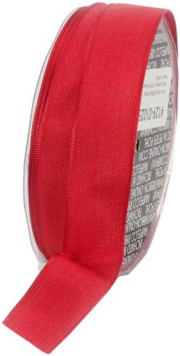 Ampelco Ribbon Company French Wired 27-Yard Taffeta Ribbon, 1-Inch, Red