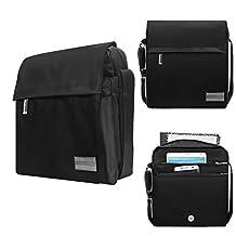 Premium Satchel Shoulder Bag Tablet Sleeve Case Sports Bag 10.1 Inch for Asus ZenPad 10 / Transformer Book T100 Chi / Transformer Book Dock / BLU TouchBook G7 / TouchBook 8.0