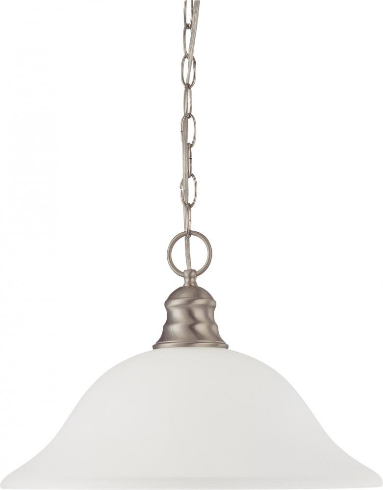 Nuvo Gothamシャンデリア 60/3258 1 B003BB12B6 Brushed Nickel / Frosted Glass ハンギングドーム(Hanging Dome) Brushed Nickel / Frosted Glass