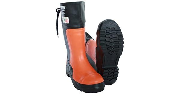 Botas Protección Contra Cortes Botas Forestales Oregon Yukon 38 Gr. - 48 Botas De Goma Zapato De Silvicultura - Naranja, 43: Amazon.es: Jardín