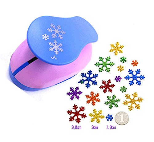 TECH-P 3 Inch Christmas Snow Pattern Paper Craft Punch 3 Pieces of Snowflake, Eva Punches for Making Christmas Arts Crafts Projects Cards Scrapbooking Garland Hanging Decorations