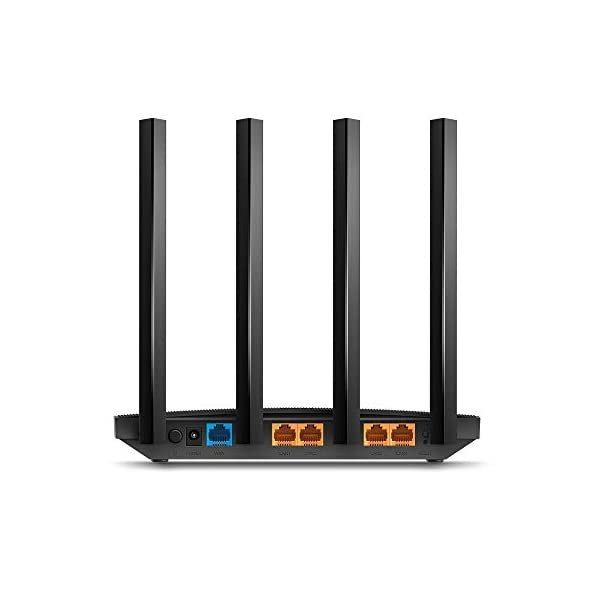 TP-Link AC1200 Archer A6 Smart WiFi, 5GHz Gigabit Dual Band MU-MIMO Wireless Internet Router, Long Range Coverage by 4… 2021 June AC1200 Dual-Band Wi-Fi —— 867 Mbps at 5 GHz and 300 Mbps at 2.4 GHz band MU-MIMO Technology —— Simultaneously transfers data to multiple devices for 2× faster performance Boosted Coverage —— Four external antennas equipped with Beamforming technology extend and concentrate the Wi-Fi signals