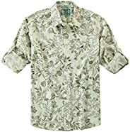 Camisa Manga Longa Estampa Folhagem, Enfim, Meninos