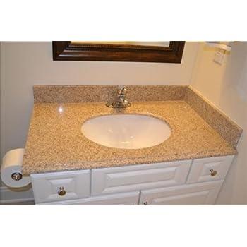 Pegasus 79682 37 Inch By 22 Inch Solid Granite Vanity Top, Beige