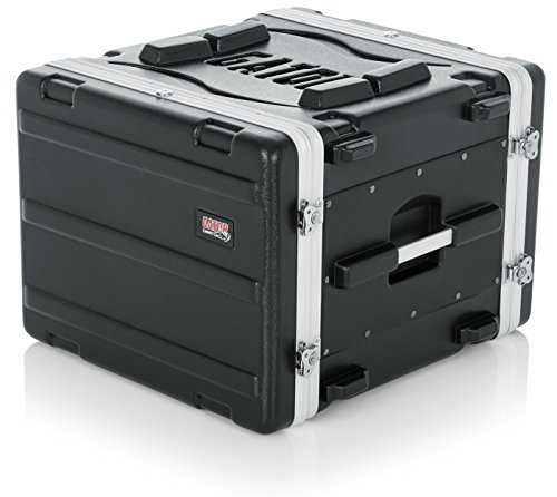Equipment Rack Case - Gator Cases Lightweight Molded 8U Rack Case with Heavy Duty Latches; Standard 19.25