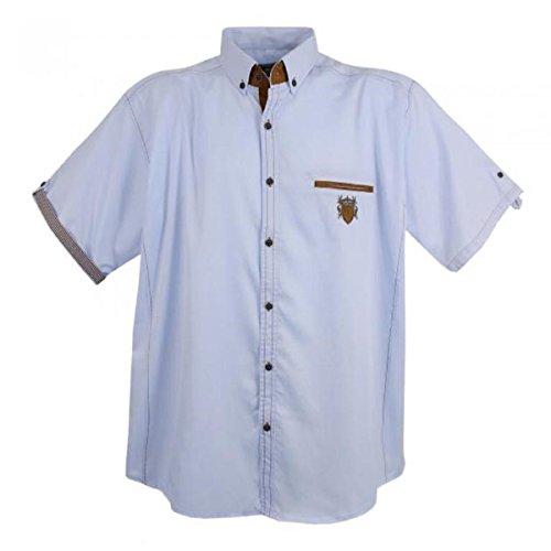 Sportliches Herren kurzarm Hemd von Lavecchia in Übergröße Größe: 4XL