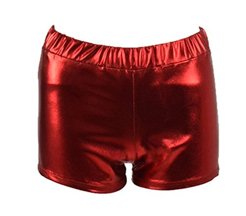 [Women Red Blue Metallic Sequin Shorts Cosplay Halloween Costume (XXL, Red)] (70s Spider Man Costume)
